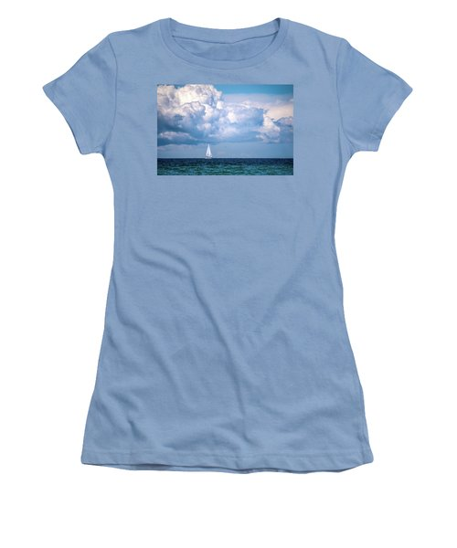 Sailing Under The Clouds Women's T-Shirt (Athletic Fit)