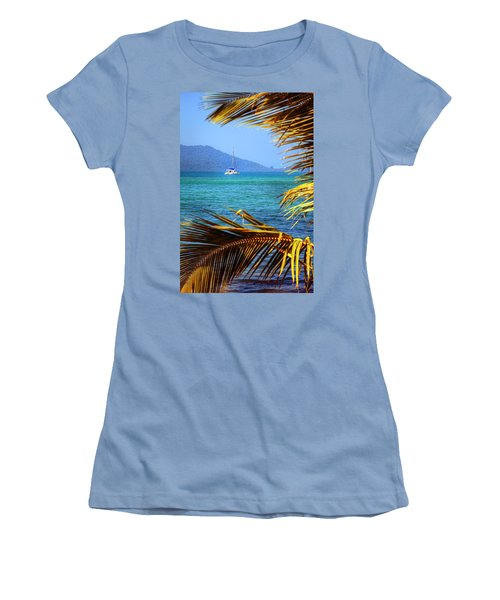 Women's T-Shirt (Junior Cut) featuring the photograph Sailing Vacation by Alexey Stiop
