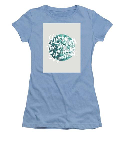 Salt Water Women's T-Shirt (Junior Cut) by Uma Gokhale