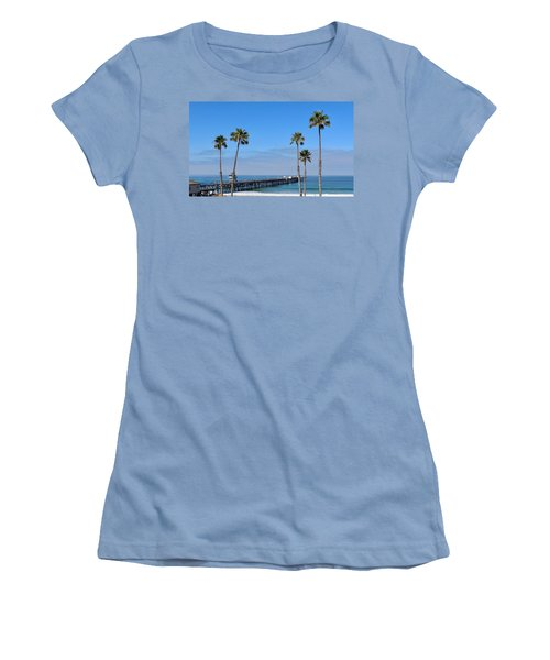 San Clemente Pier Women's T-Shirt (Athletic Fit)