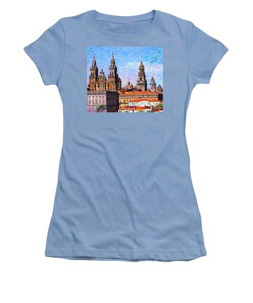 Santiago De Compostela, Cathedral, Spain Women's T-Shirt (Athletic Fit)
