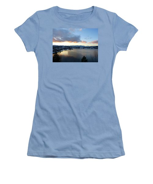 Women's T-Shirt (Junior Cut) featuring the photograph Scenic Lake Country by Will Borden