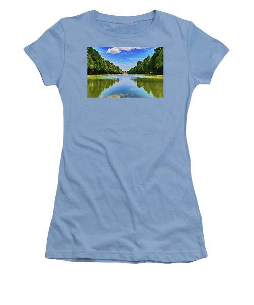 Women's T-Shirt (Athletic Fit) featuring the digital art Schleiheim by PixBreak Art