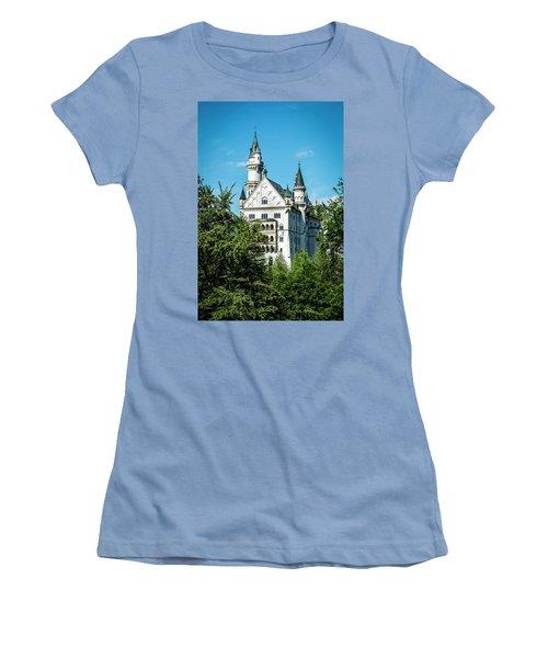 Women's T-Shirt (Junior Cut) featuring the photograph Schloss Neuschwantstein by David Morefield