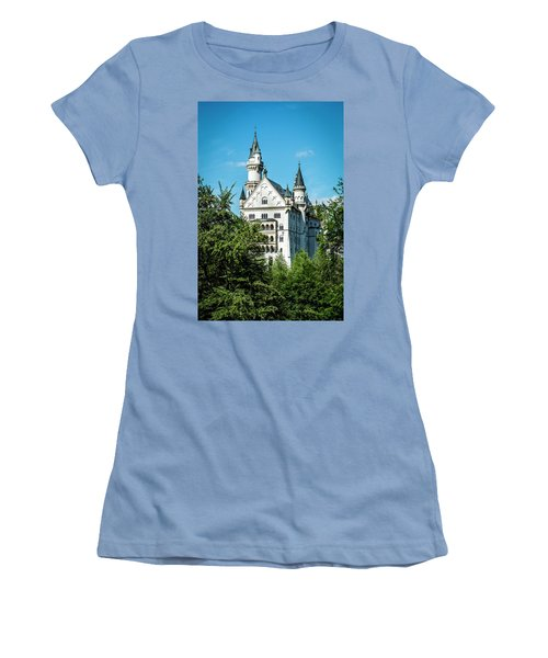Women's T-Shirt (Athletic Fit) featuring the photograph Schloss Neuschwantstein by David Morefield