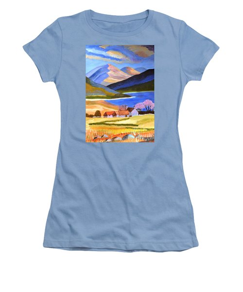 Scottish Highlands 2 Women's T-Shirt (Junior Cut) by Magdalena Frohnsdorff