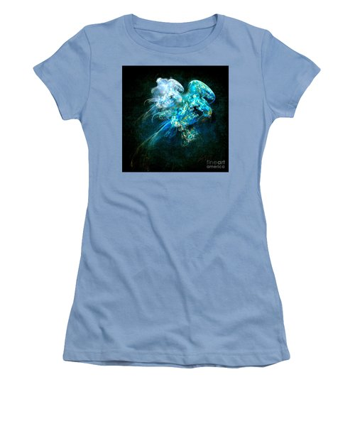 Women's T-Shirt (Junior Cut) featuring the painting Sea Jellyfish by Alexa Szlavics