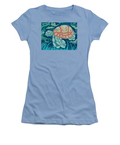 Sea Turtle At Twilight  Women's T-Shirt (Athletic Fit)