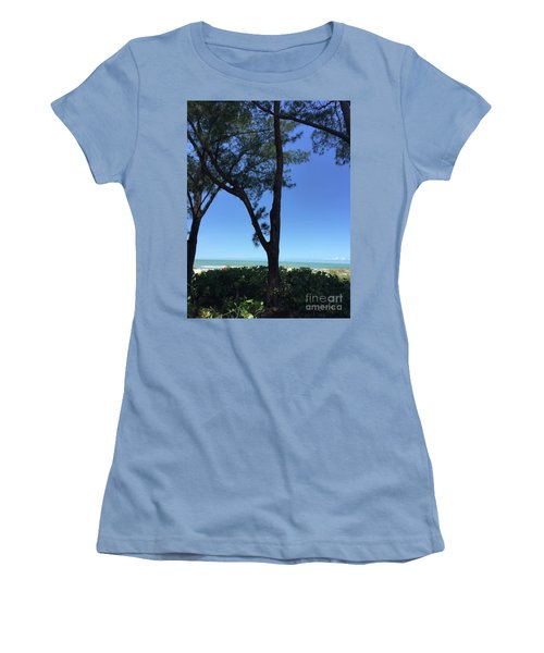 Seagrapes And Pines Women's T-Shirt (Junior Cut) by Megan Cohen