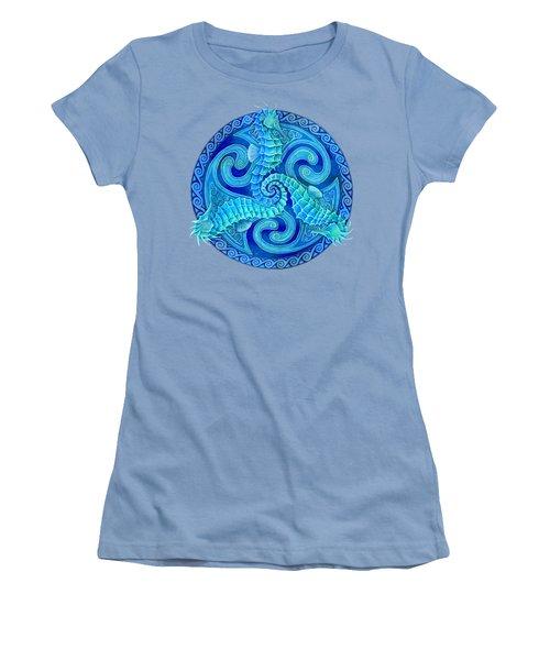 Seahorse Triskele Women's T-Shirt (Athletic Fit)