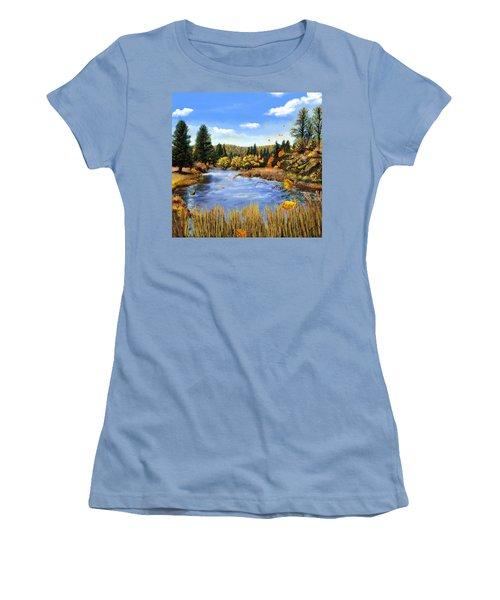 Seeley Montana Fall Women's T-Shirt (Junior Cut) by Susan Kinney