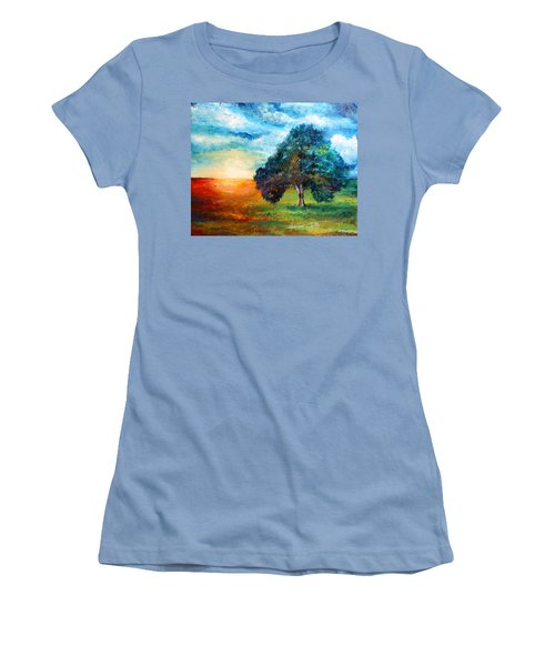 Self Portrait #3 A New Day Women's T-Shirt (Athletic Fit)