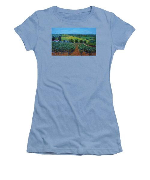 Sentrees Of The Grapes Women's T-Shirt (Athletic Fit)