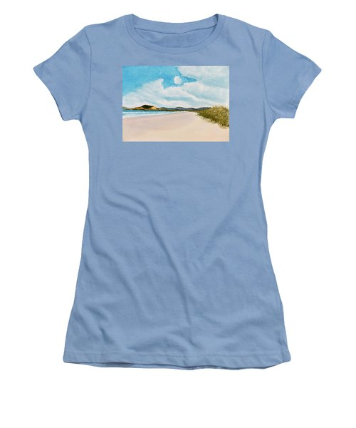 Seven Mile Beach On A Calm, Sunny Day Women's T-Shirt (Athletic Fit)