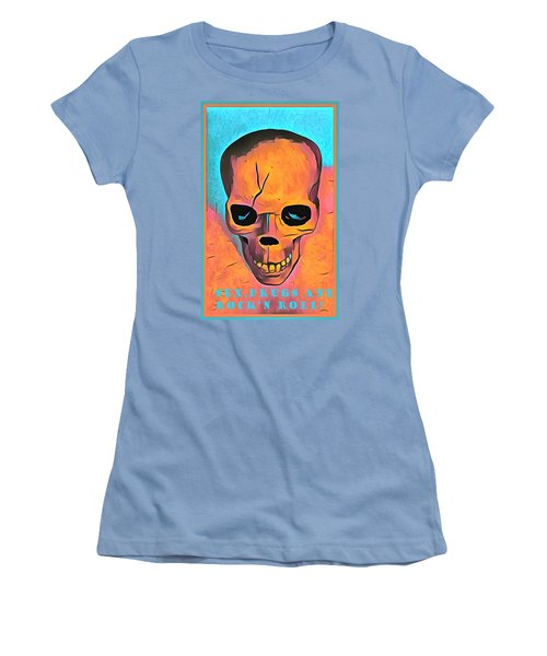 Women's T-Shirt (Junior Cut) featuring the digital art Sex Drugs And Rock N Roll by Floyd Snyder