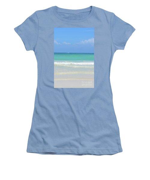Women's T-Shirt (Junior Cut) featuring the digital art Seychelles Islands 3 by Eva Kaufman