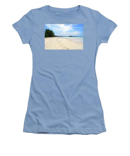 Women's T-Shirt (Junior Cut) featuring the digital art Seychelles Islands 5 by Eva Kaufman