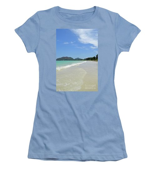 Women's T-Shirt (Junior Cut) featuring the digital art Seychelles Islands 6 by Eva Kaufman