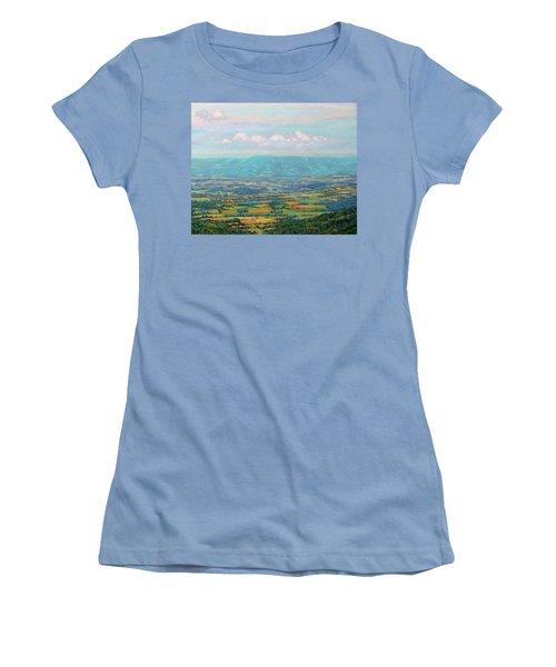 Shenandoah Blue Women's T-Shirt (Athletic Fit)