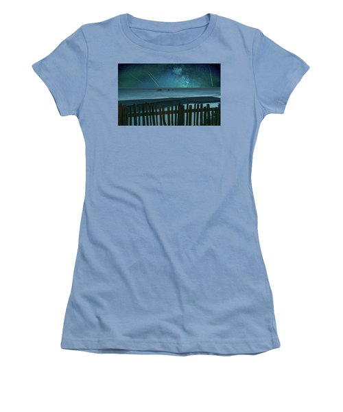 Shooting Stars Women's T-Shirt (Junior Cut) by Marius Sipa