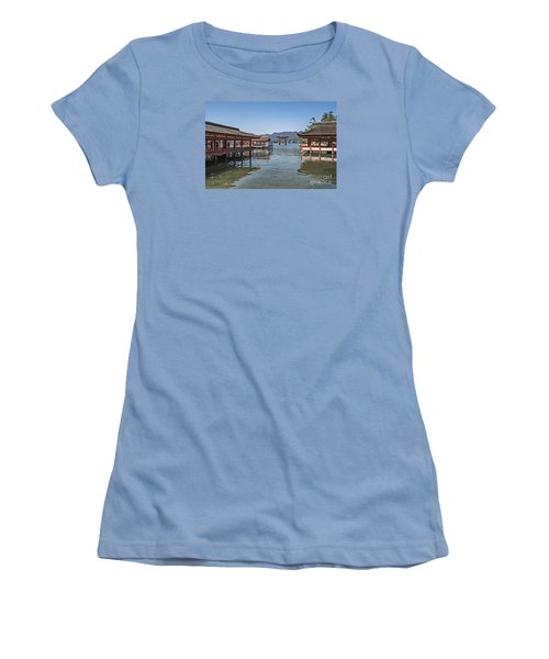 Women's T-Shirt (Junior Cut) featuring the photograph Shrine Over Water by Pravine Chester
