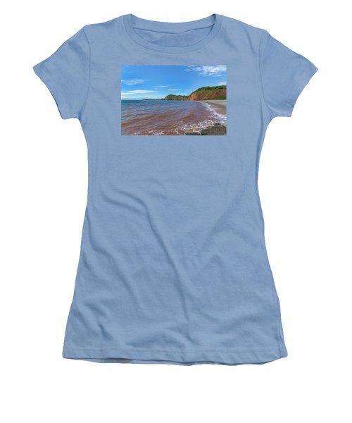 Women's T-Shirt (Junior Cut) featuring the photograph Sidmouth Jurassic Coast by Scott Carruthers