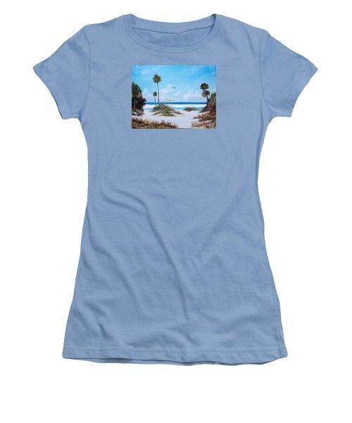 Siesta Key Fun Women's T-Shirt (Junior Cut) by Lloyd Dobson