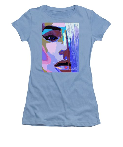 Women's T-Shirt (Athletic Fit) featuring the digital art Silver Queen by Rafael Salazar
