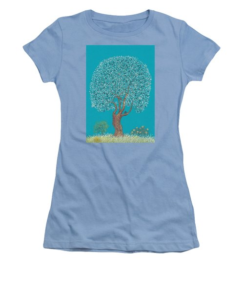 Silver Tree Women's T-Shirt (Junior Cut) by Charles Cater