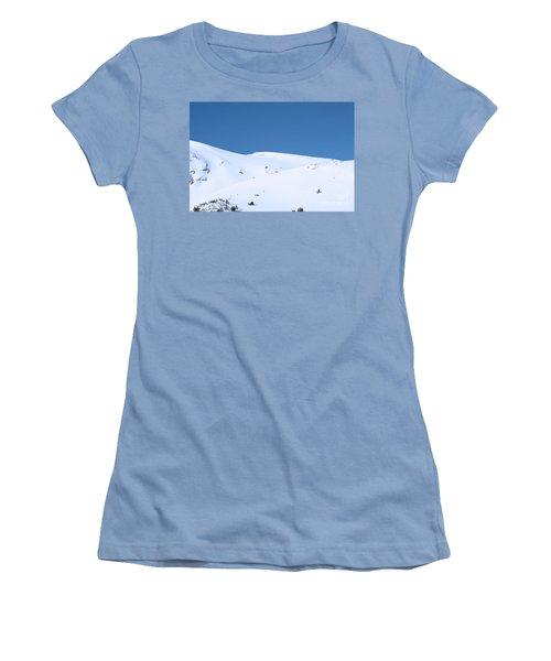 Women's T-Shirt (Junior Cut) featuring the photograph Simply Winter by Juli Scalzi