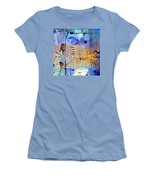 Women's T-Shirt (Junior Cut) featuring the painting Singularity by Dominic Piperata