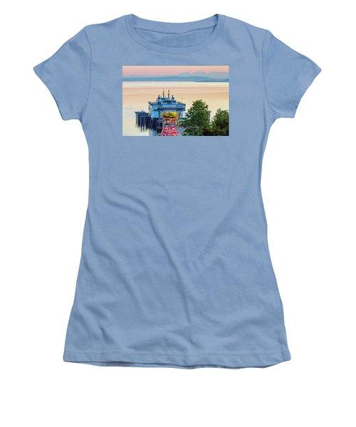 Six O'clock Ferry.2 Women's T-Shirt (Junior Cut) by E Faithe Lester