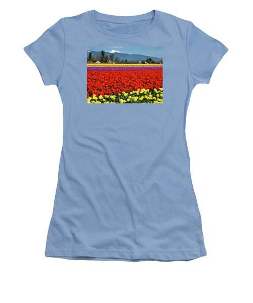 Skagit Valley Tulip Fields Women's T-Shirt (Athletic Fit)