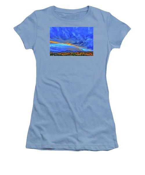 Women's T-Shirt (Junior Cut) featuring the photograph Sky Fall by Scott Mahon