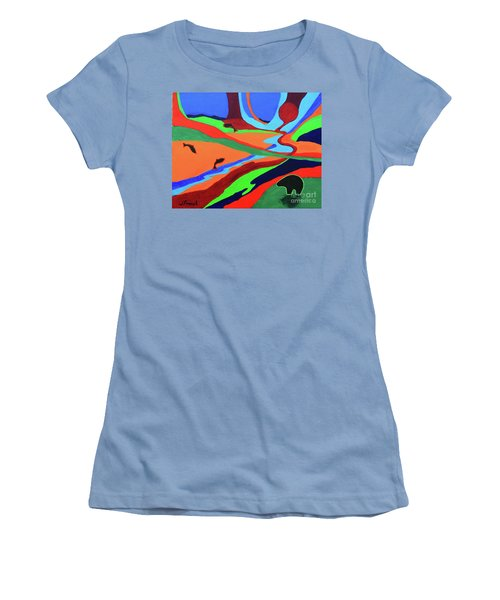 Sky Rivers Women's T-Shirt (Junior Cut) by Jeanette French