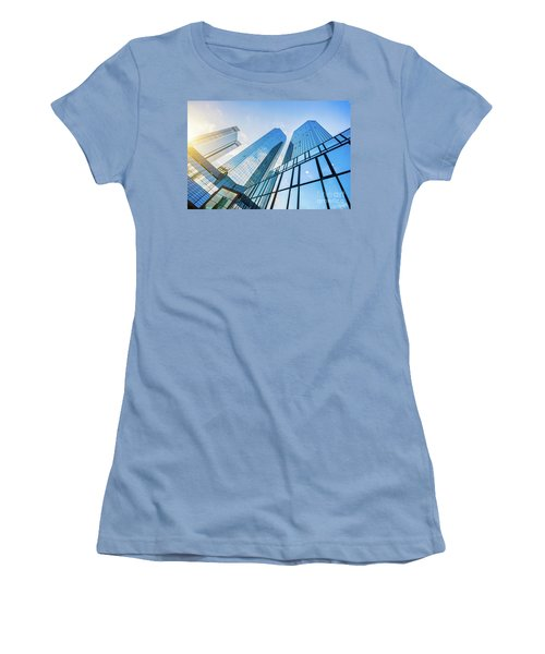 Skyscrapers Women's T-Shirt (Junior Cut) by JR Photography