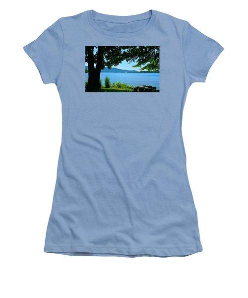 Smith Mountain Lake Sailor Women's T-Shirt (Junior Cut) by The American Shutterbug Society