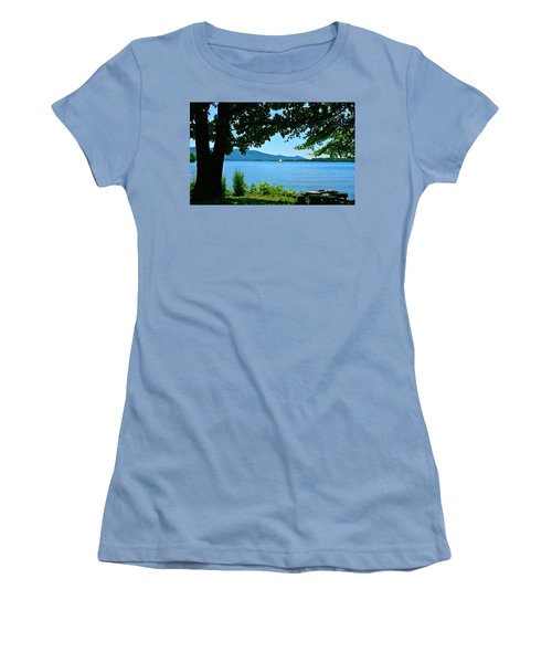 Smith Mountain Lake Sailor Women's T-Shirt (Athletic Fit)