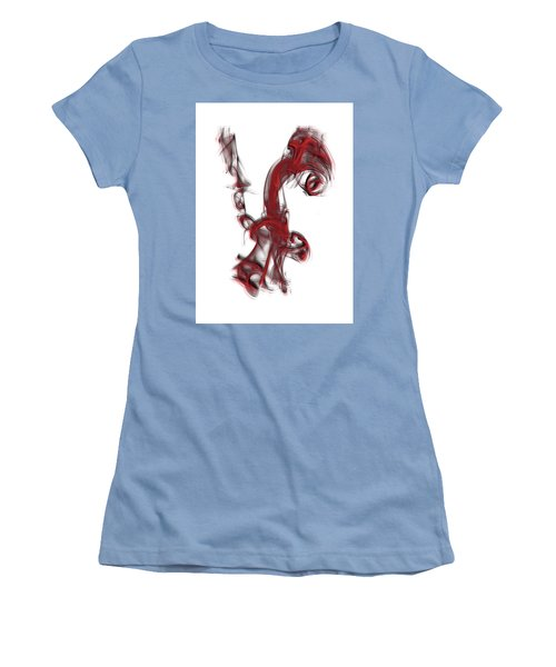 Smoke 01 Red Women's T-Shirt (Athletic Fit)