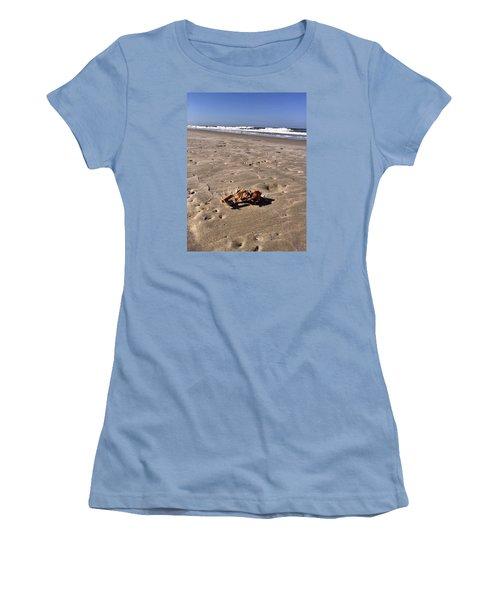 Women's T-Shirt (Junior Cut) featuring the photograph Smoking Kills Crab by Lisa Piper
