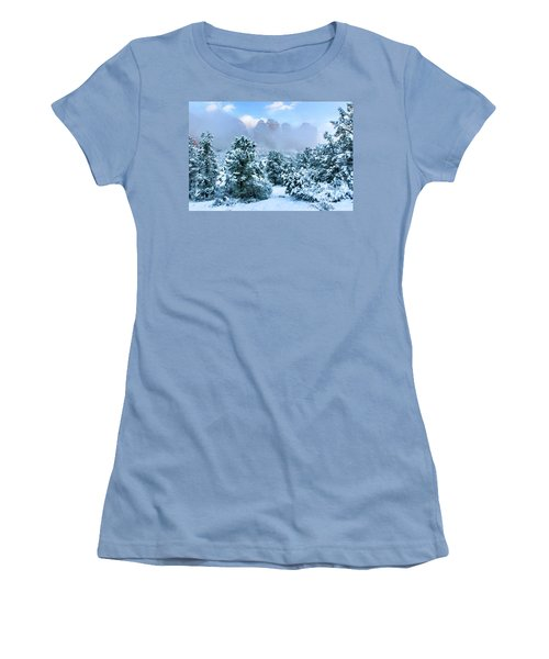 Snow 07-072 Women's T-Shirt (Junior Cut) by Scott McAllister