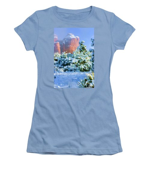 Snow 07-093 Women's T-Shirt (Junior Cut) by Scott McAllister
