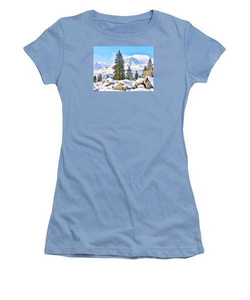 Snow Cool Women's T-Shirt (Junior Cut) by Marilyn Diaz