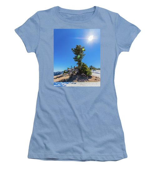 Women's T-Shirt (Athletic Fit) featuring the photograph Snow Tree by Jonny D