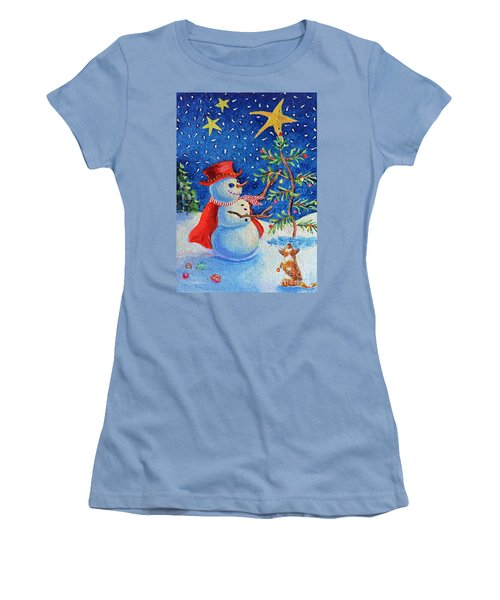 Snowmas Christmas Women's T-Shirt (Athletic Fit)