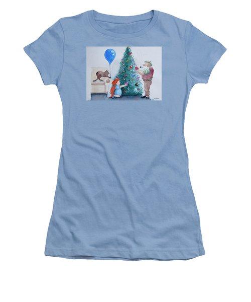 Women's T-Shirt (Junior Cut) featuring the painting So Pretty Grandpa by Geni Gorani