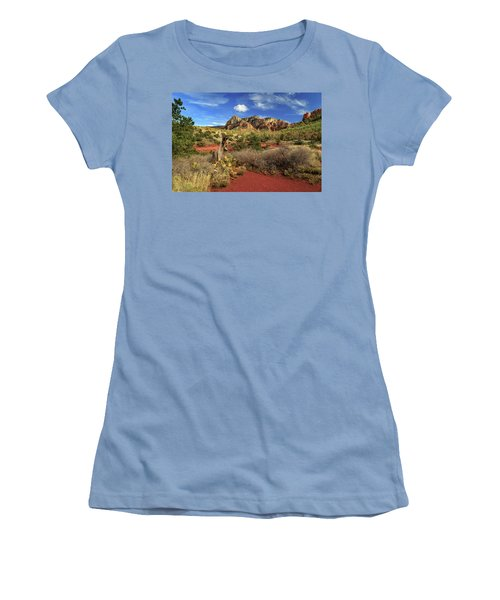 Some Cactus In Sedona Women's T-Shirt (Junior Cut) by James Eddy