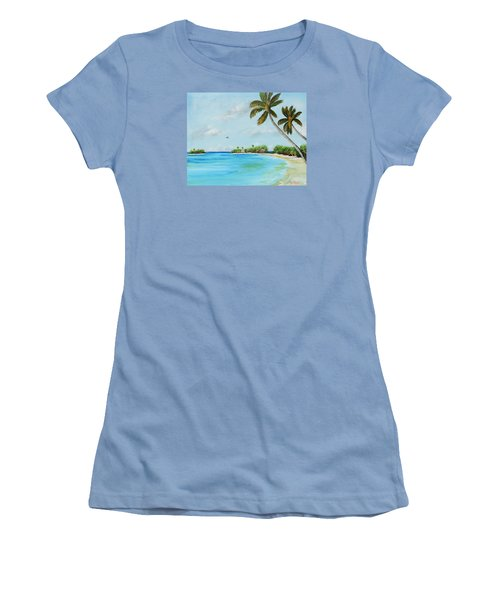 Somewhere In Paradise Women's T-Shirt (Junior Cut) by Lloyd Dobson