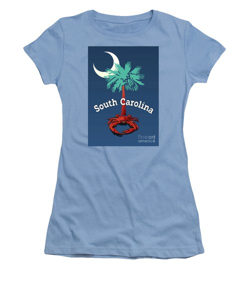 South Carolina Palmetto Crab Women's T-Shirt (Athletic Fit)