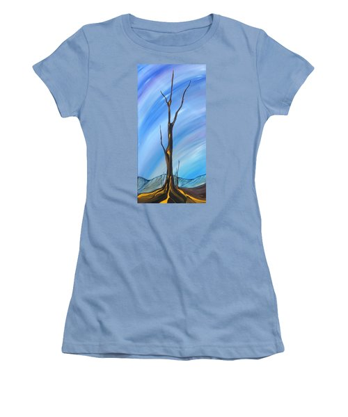 Women's T-Shirt (Junior Cut) featuring the painting Spike by Pat Purdy